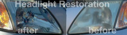 ClintsGlass.com - Houston TX Headlight Restoration Before And After