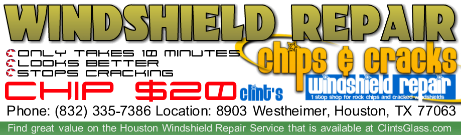 Cost is $20 to Repair a Windshield : I Know Most Chips Can Be Repaired in Windshields (Houston)
