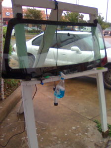A Windshield Repair Training Windshield Stand