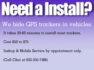 Need A Install? GPS Tracking Advertisement