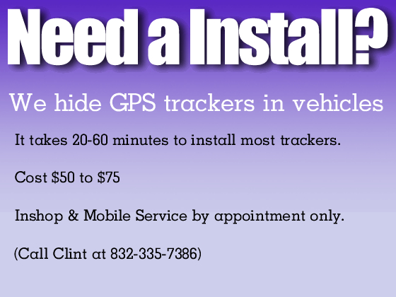 Need A Install? GPS Tracking