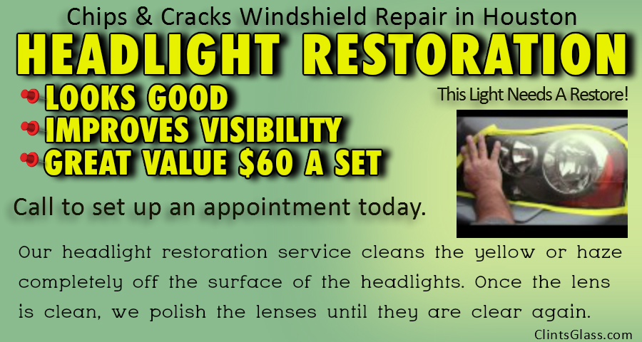 Headlight Cleaning & Restoration of Headlights Houston